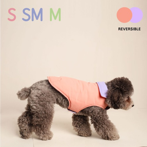 [NEW] REVERSIBLE VEST_PEACH LAVENDER