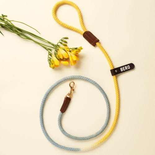 [LIMITED] (TWO TONE) SMART LEASH_BABYBLUE & YELLOW
